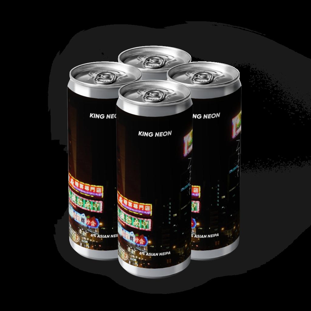 King Neon 4 pack Rebel's Brewery